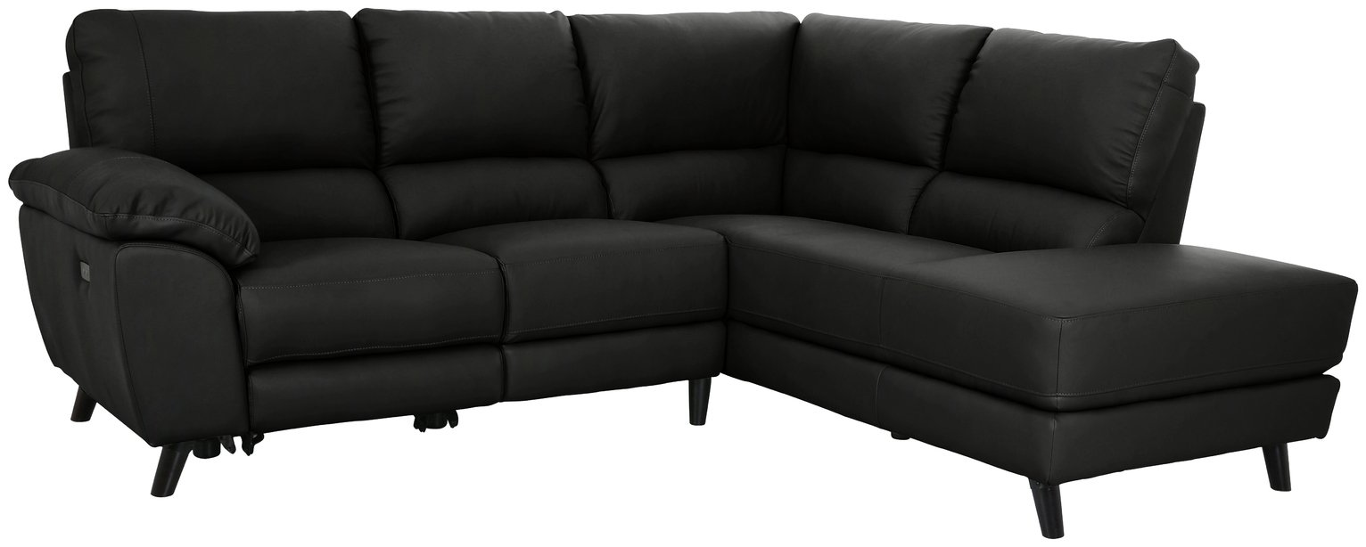 Argos Home Elliot Corner Leather Mix Recliner Sofa review