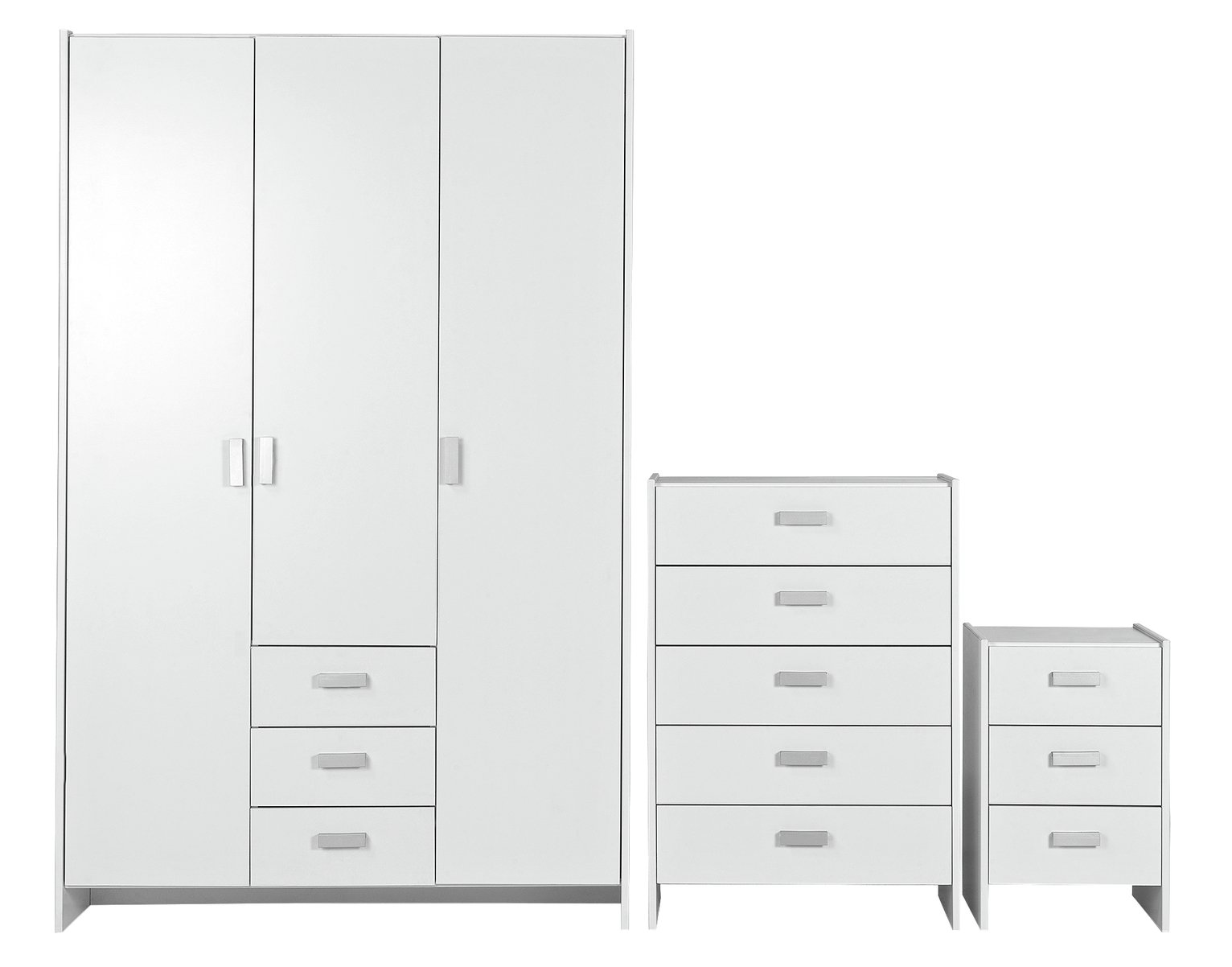 Argos Home Capella White 3 Door 3 Drawer Wardrobe Package review