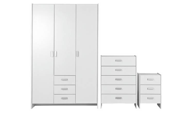 Argos Home Capella 3 Piece 3 Door Wardrobe Set - White