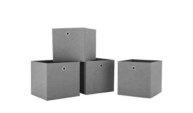 Habitat Set of 4 Squares Plus Boxes - Grey