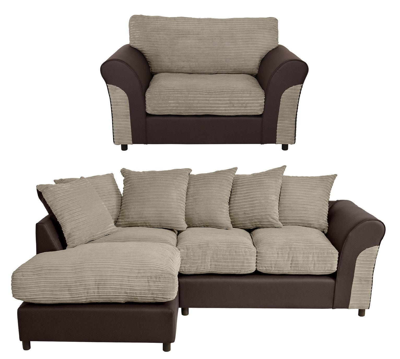 Argos Home Harry Fabric Chair and Left Corner Sofa review
