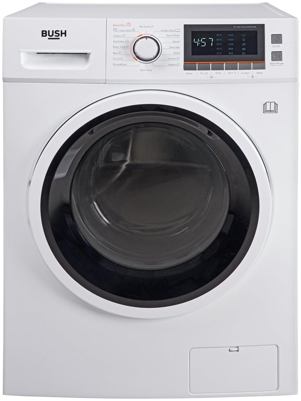 Bush WDNBX107W 10KG / 7KG 1600 Spin Washer Dryer - White