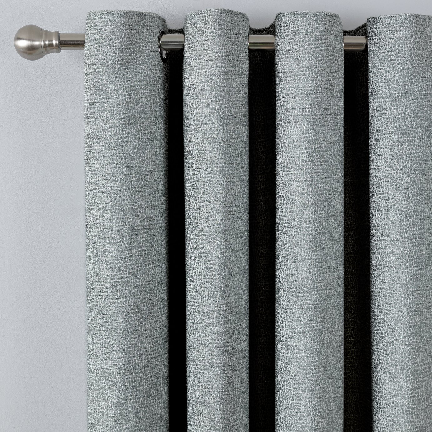 Argos Home Chenille Lined Eyelet Curtains - Charcoal
