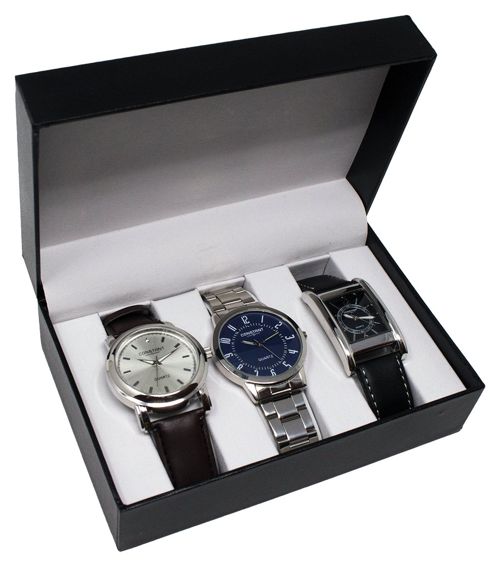 Constant Quartz Men's Set of 3 Analogue Watches