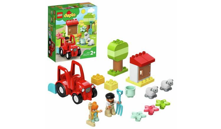 LEGO DUPLO Town Farm Tractor and Animals Toddler Toy 10950