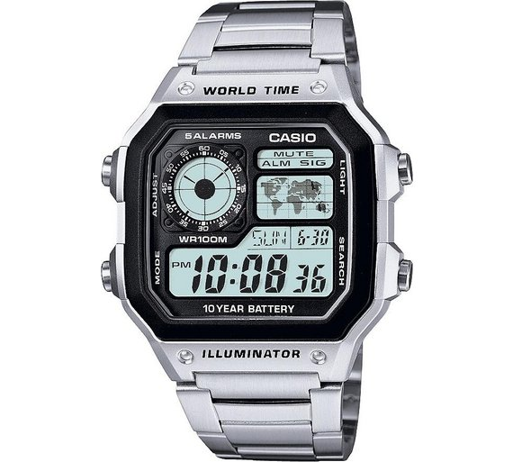Buy casio mens world time illuminator watch at argos your casio mens world time illuminator watch gumiabroncs Image collections