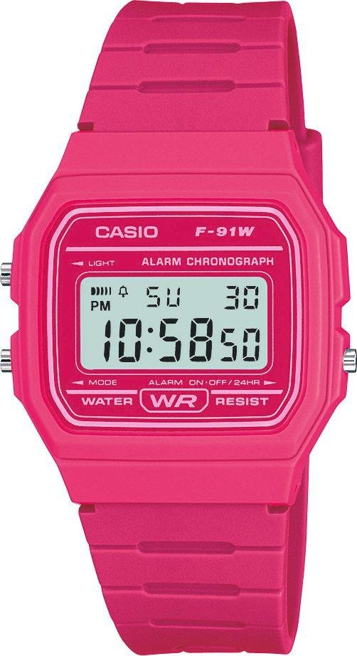 Image of Casio - Digital - Watch with Pink Resin Strap