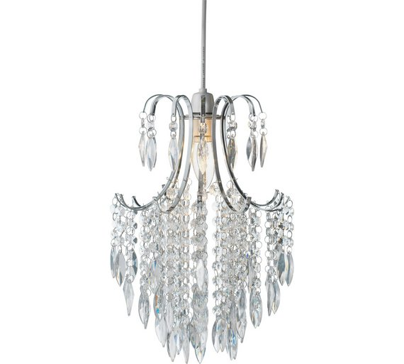 Buy argos home kirsty beaded shade clear lamp shades argos argos home kirsty beaded shade clear aloadofball