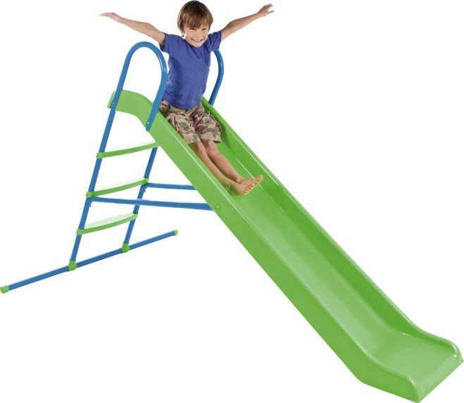 chad valley  7ft straight slide  green