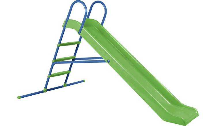 Chad Valley 7ft Kids Garden Slide - Green and Blue