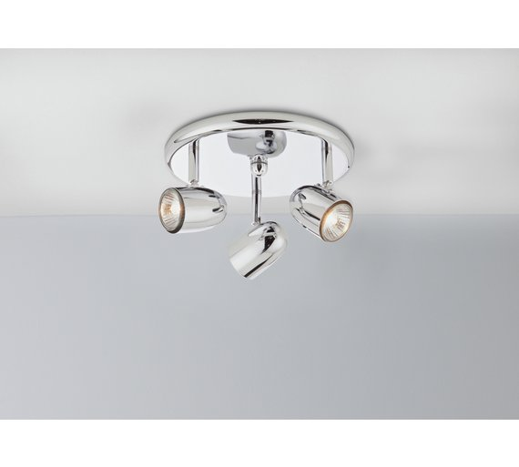 Buy home arizona 3 spotlight ceiling plate chrome ceiling and click to zoom aloadofball Gallery