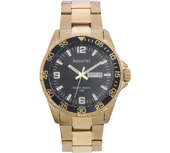 buy accurist men s gold plated sports watch at argos co uk your accurist men s gold plated sports watch910 9579