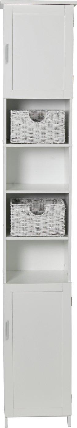 Argos Home Tallboy Cabinet - White