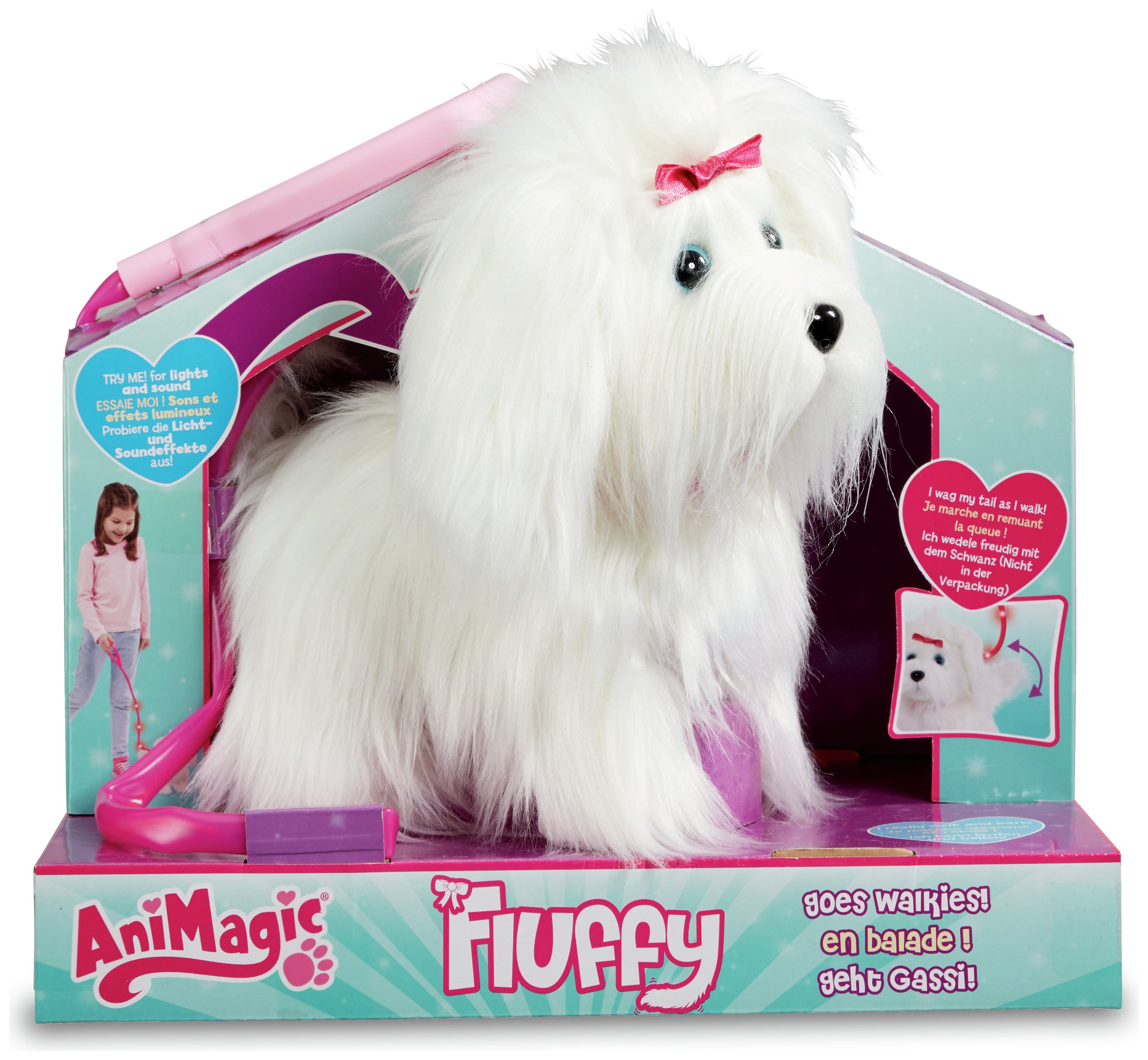 Image of AniMagic Fluffy Goes Walking Soft Toy