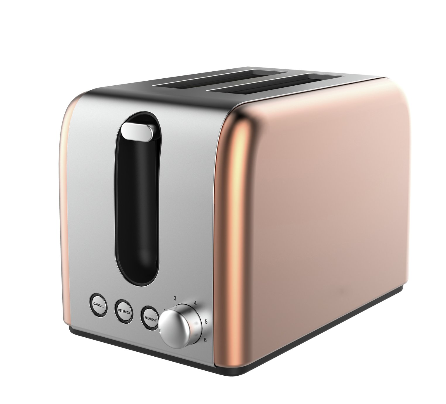 Cookworks Bullet 2 Slice Toaster - Copper