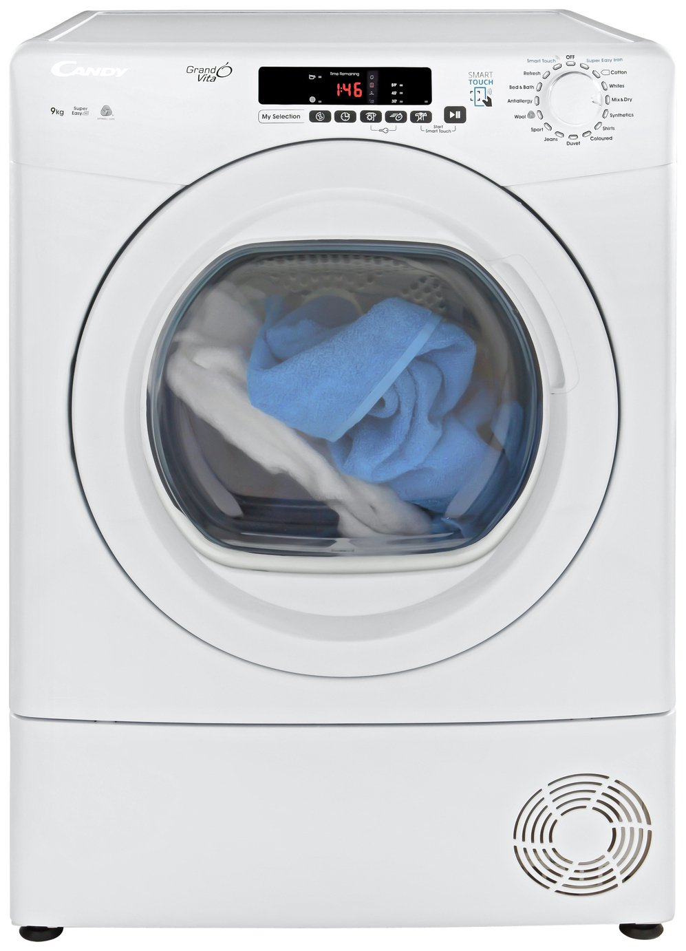 Candy GVS C9DG 9KG Condenser Tumble Dryer- White