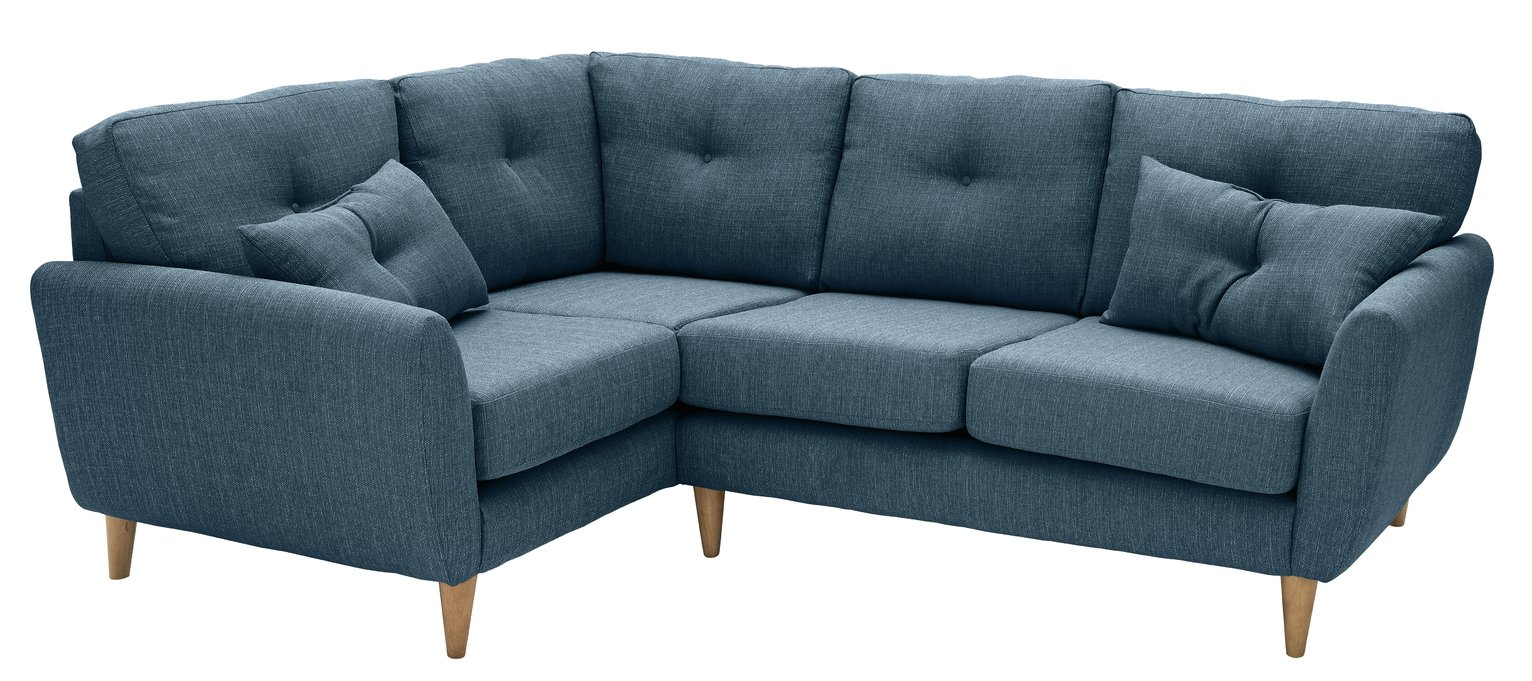 Argos Home Kari Left Corner Fabric Sofa - Blue