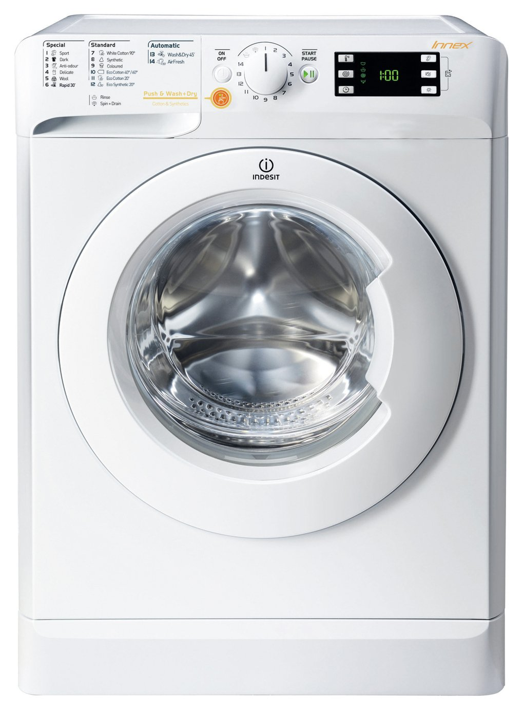 Indesit XWDE1071681X 10KG / 7KG 1600 Washer Dryer - White