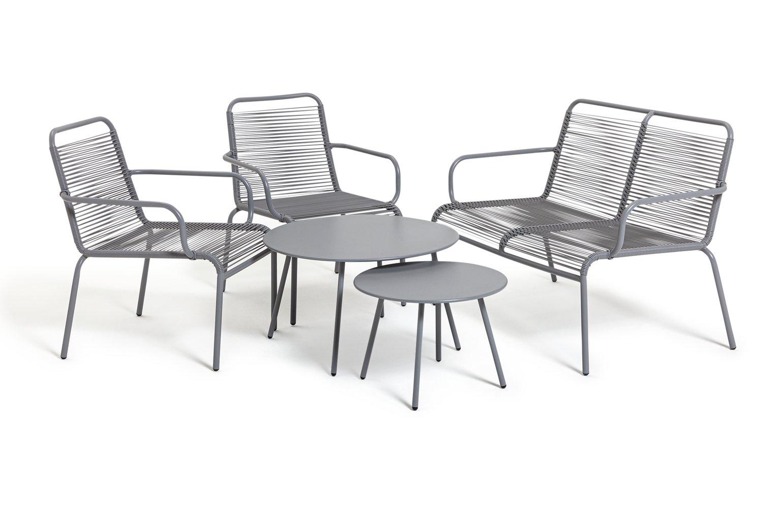 Habitat Ipanema 4 Seater Sofa Set - Grey