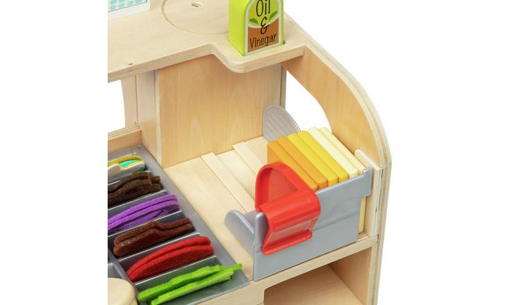 Melissa & Doug Wooden Sandwich Counter Play Set
