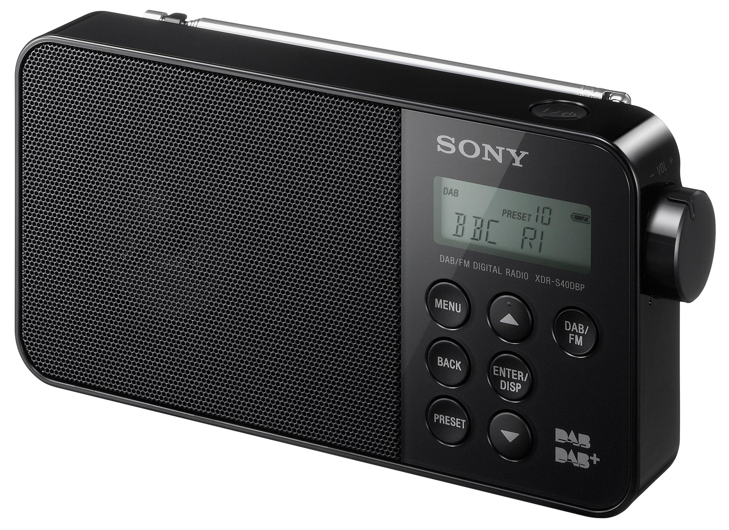 sony xdrs40 dab radio black. Black Bedroom Furniture Sets. Home Design Ideas