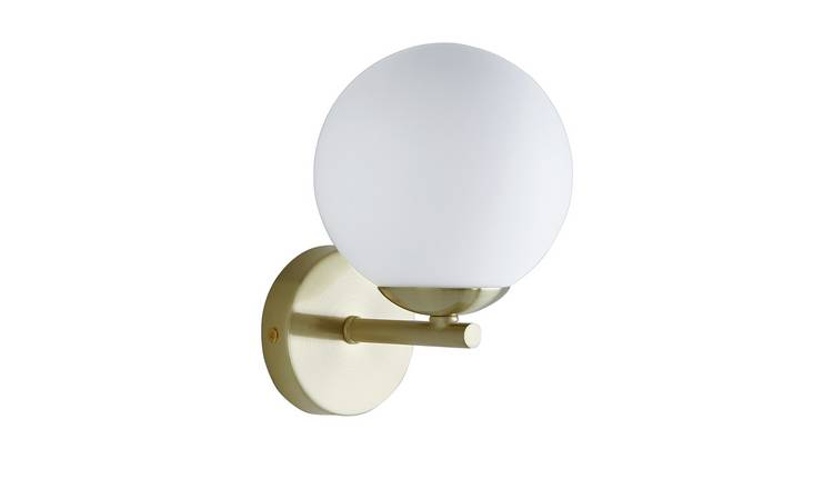 Habitat Rede Glass Wall Light - Brass