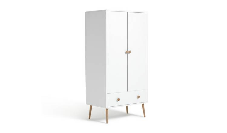 Argos Home Bodie 2 Door 1 Drawer Wardrobe - White