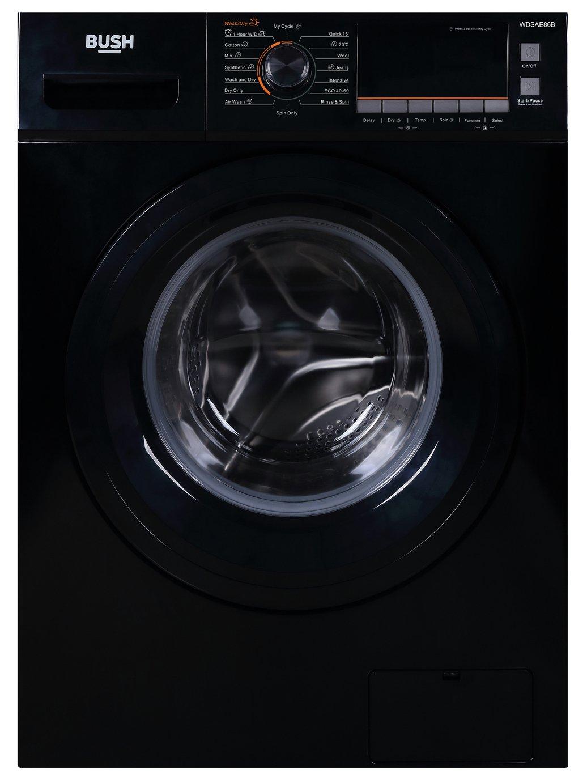 Bush WDNSX86B 7KG/8KG 1400 Spin Washer Dryer - Black