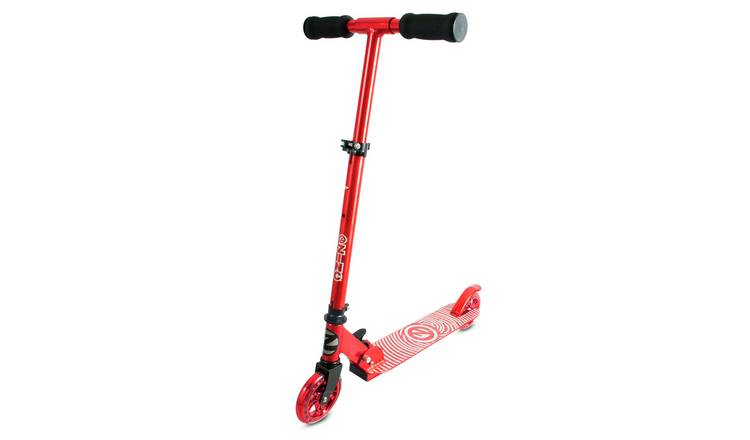 Zinc Aluminium Identity Folding Scooter - Red