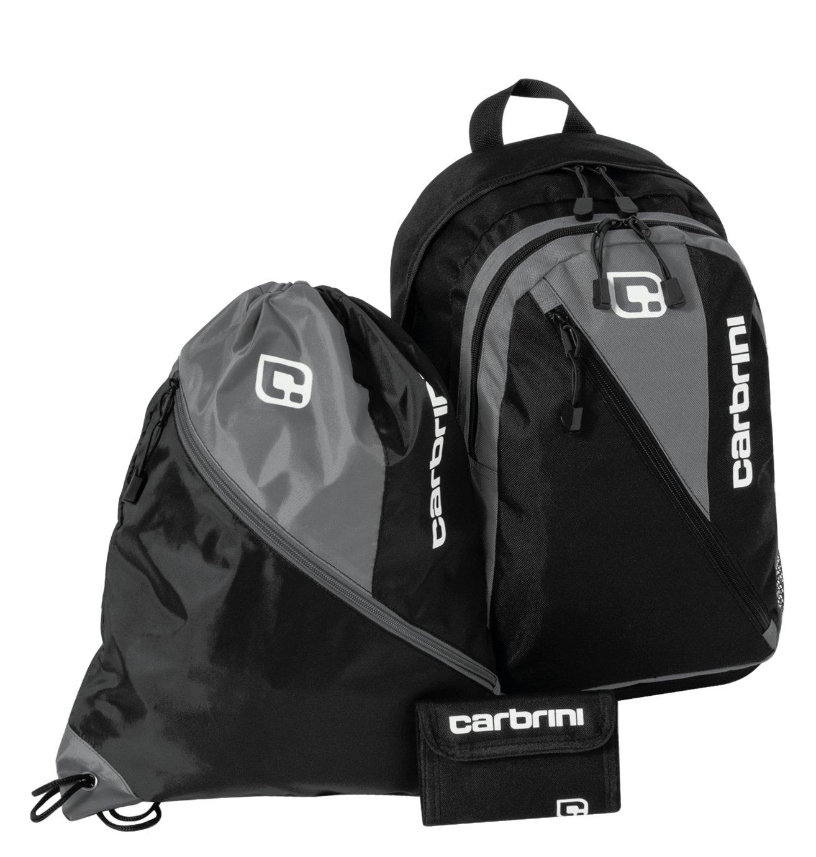 Image of Carbrini - 3 Piece Backpack Set - Black