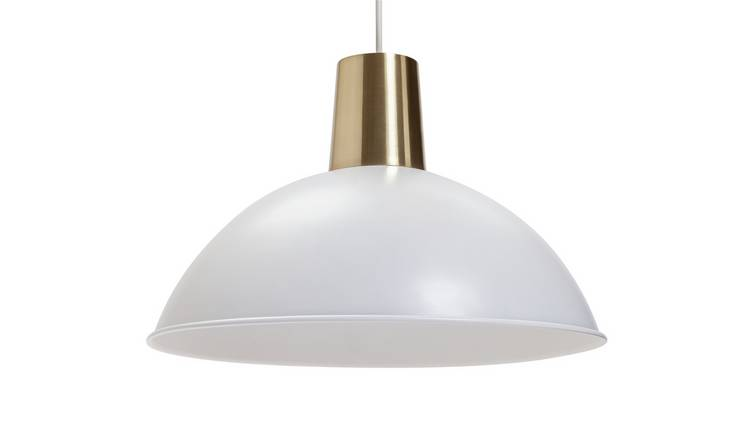 Habitat Harvey Metal Shade - White