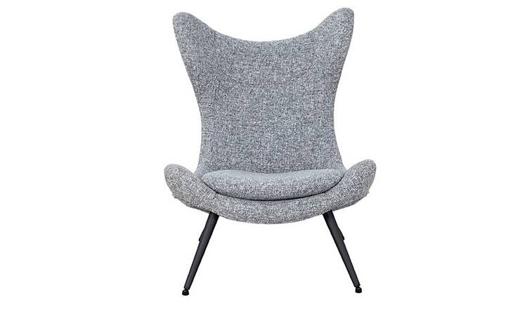 Habitat Robbie Fabric Accent Chair - Grey