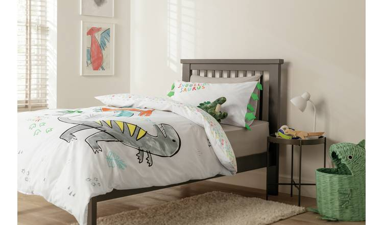 Argos Home Snoozing Dinos Bedding Set - Toddler