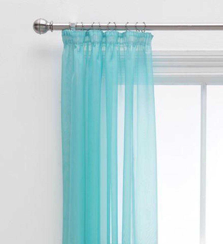 Argos Home Unlined Voile Panels - 152x228cm - Soft Blue