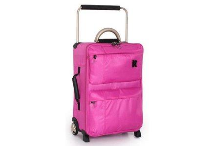 IT World's Lightest 2 Wheel Suitcase - Pink.