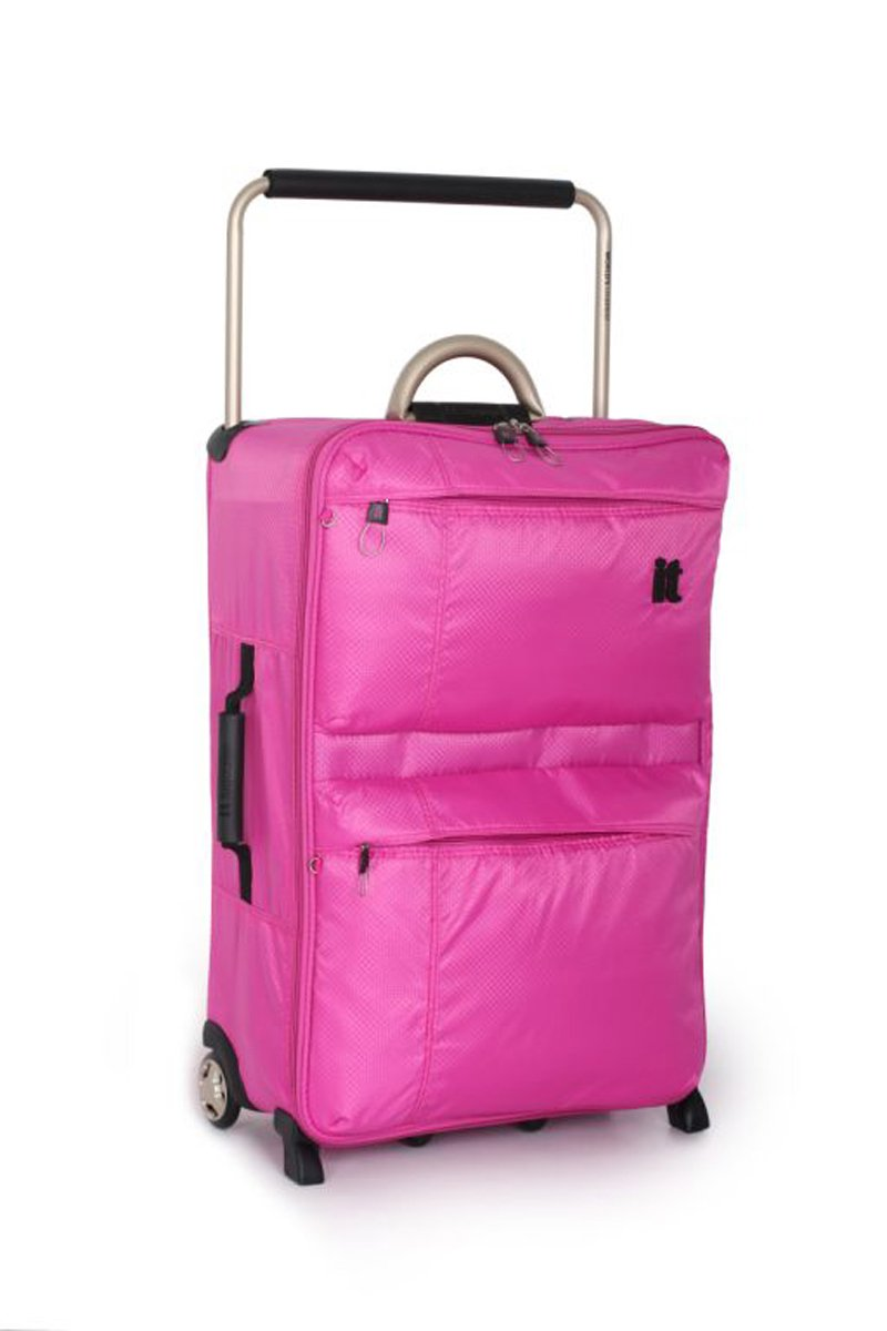 Buy IT World's Lightest Medium 2 Wheel Suitcase - Pink at Argos.co ...