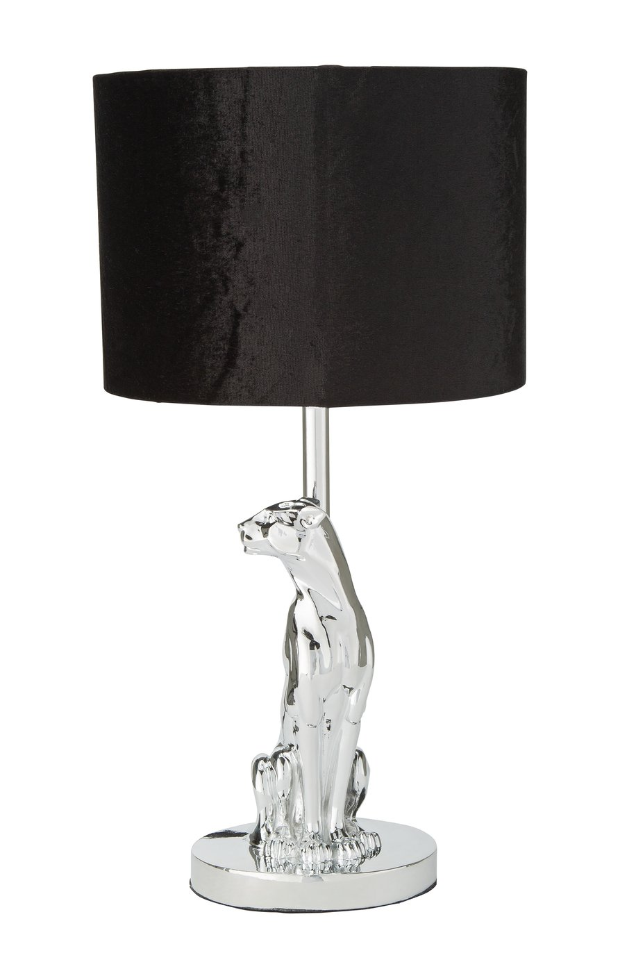 Argos Home Panther Table Lamp - Chrome