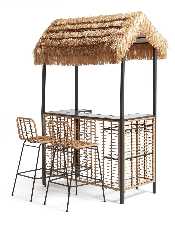 Habitat Beach Bar Gazebo with Stools - Natural