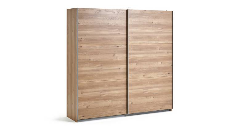 Habitat Holsted Extra Large Wardrobe - Oak Effect