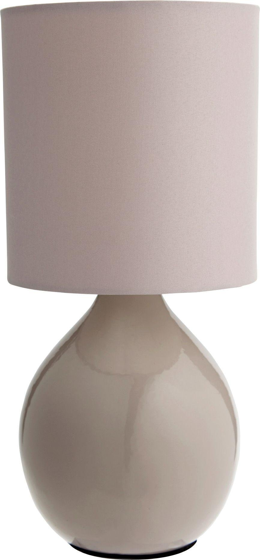 Image of HOME Round Ceramic Table Lamp - Cafe Mocha