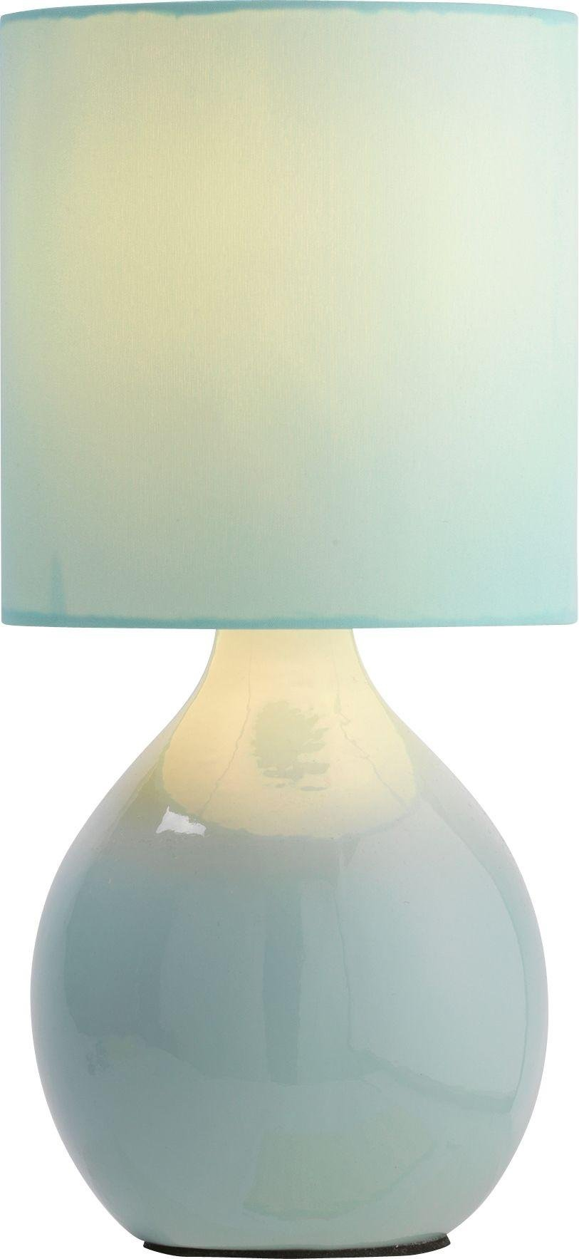 colourmatch round ceramic table lamp  jellybean blue.