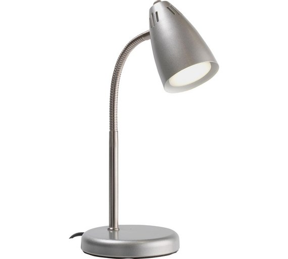 amazing silver desk lamp. Collection LED Desk Lamp  Silver Buy at Argos co uk Your Online