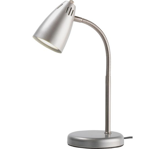 Buy collection led desk lamp silver table lamps argos click to zoom aloadofball Image collections