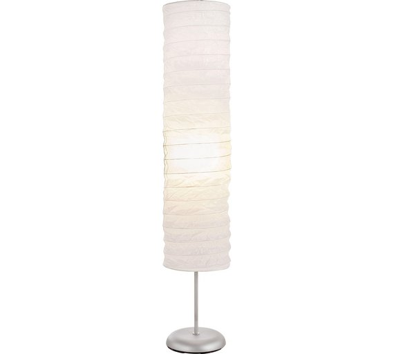 Buy HOME Tube Paper Floor Lamp - White | Floor lamps | Argos