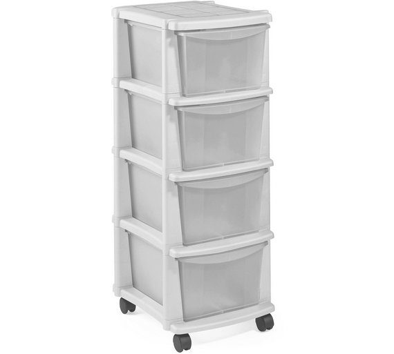 Buy HOME Keter 4 Drawer Plastic Tower Storage Unit