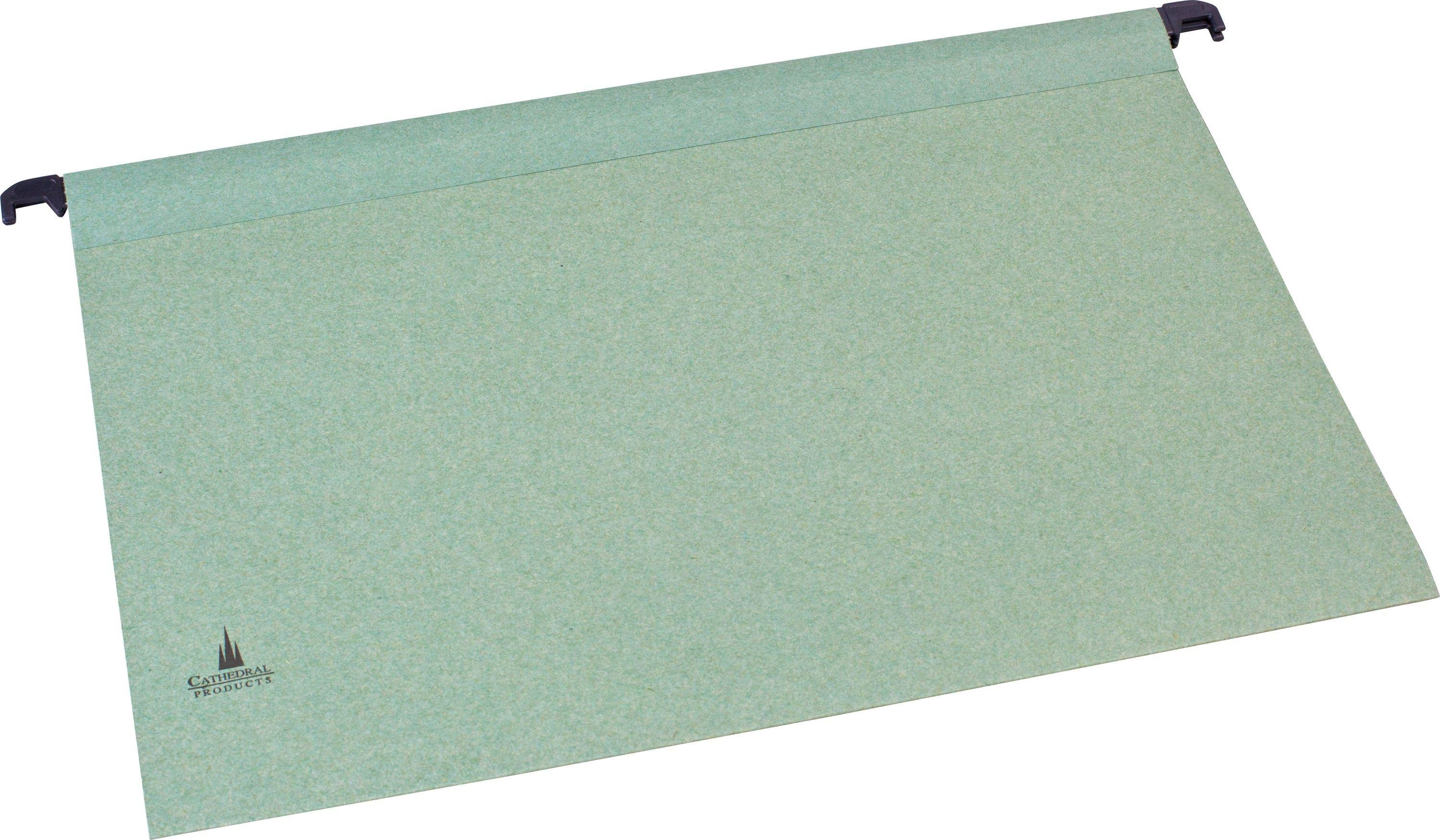 Image of Cathedral 20 Foolscap Suspension Files - Green
