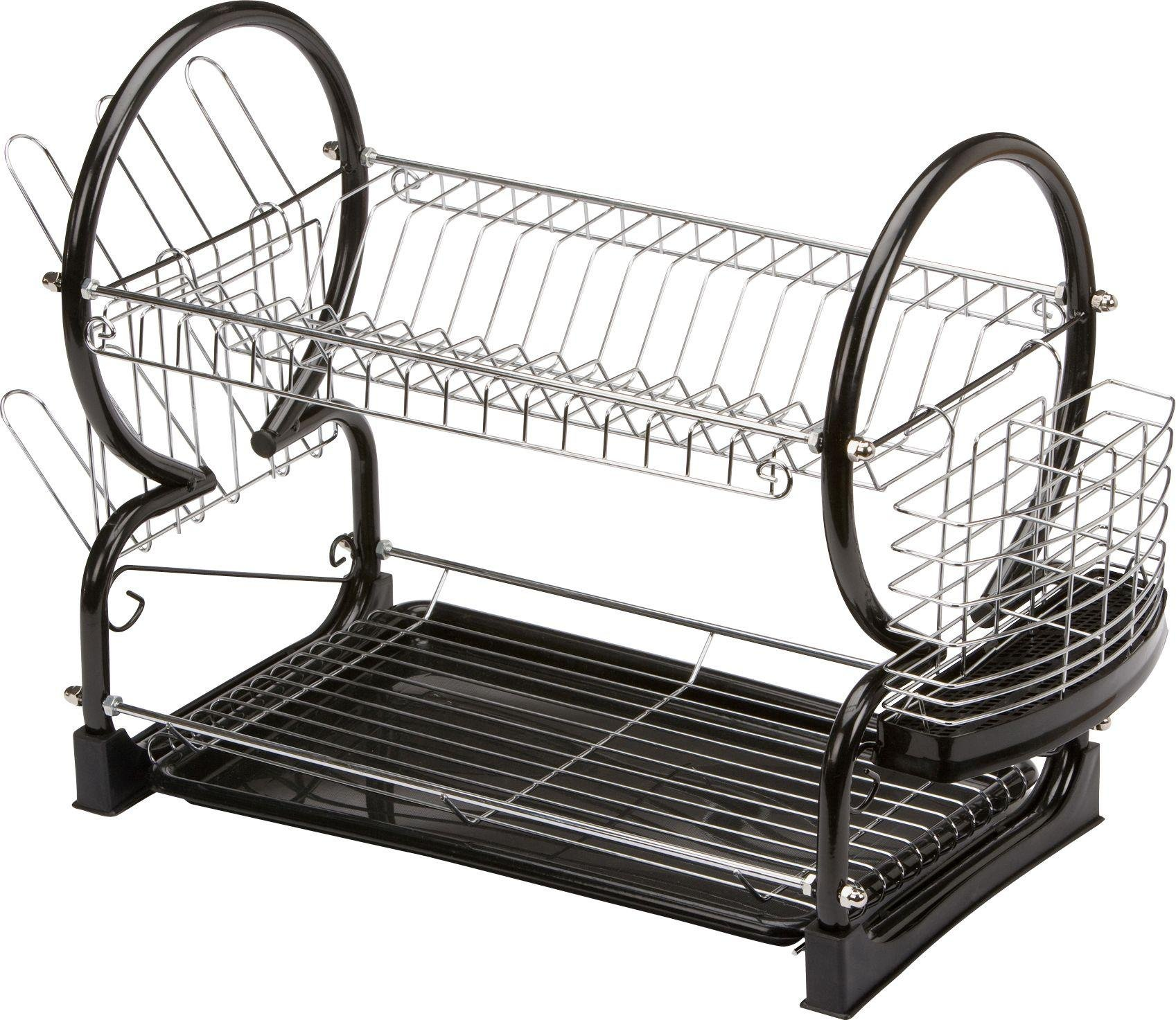 Image of HOME - 2 Tier Dish Rack - Black
