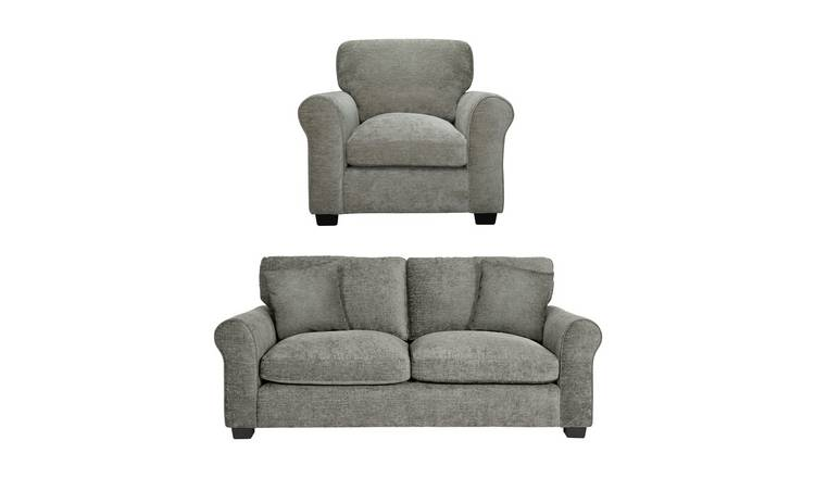 Peachy Buy Argos Home Tammy Fabric Chair And 3 Seater Sofa Mink Sofa Sets Argos Dailytribune Chair Design For Home Dailytribuneorg