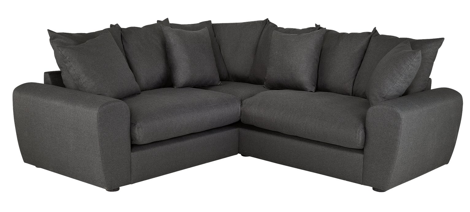 Argos Home Billow Corner Fabric Sofa - Grey