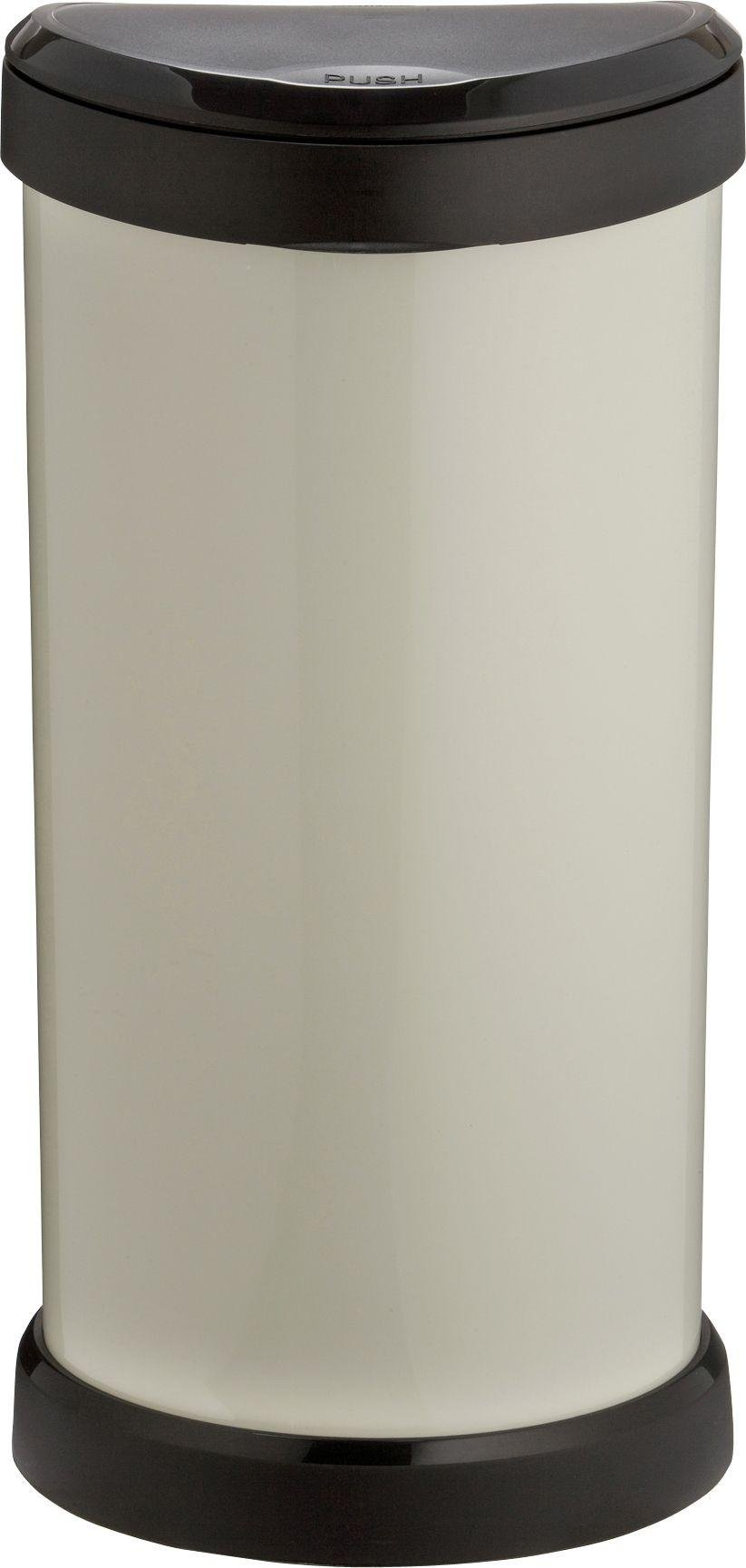 Image of Curver 40 Litre Touch Top Kitchen Bin - Ivory